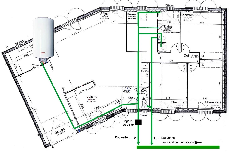 Etude fluide reseau eaux usees