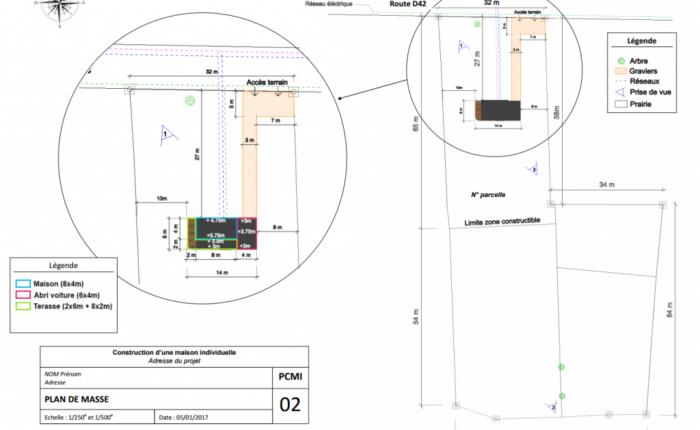 exemple PCMI2 Plan de masse